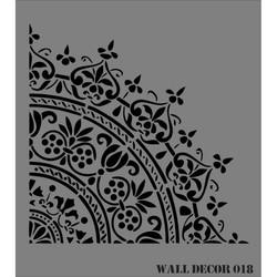Rich - RİCH WALL DECOR STENCİL 50*56 CM. NO:18