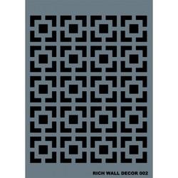 Rich - RİCH WALL DECOR STENCİL 50*70 CM. NO:02